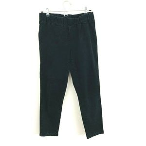 Soft Surroundings Black Pull On Crop Jeans